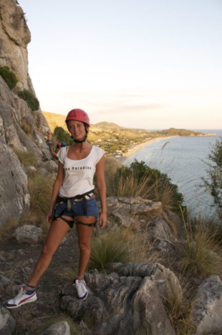 free climbing a sperlonga