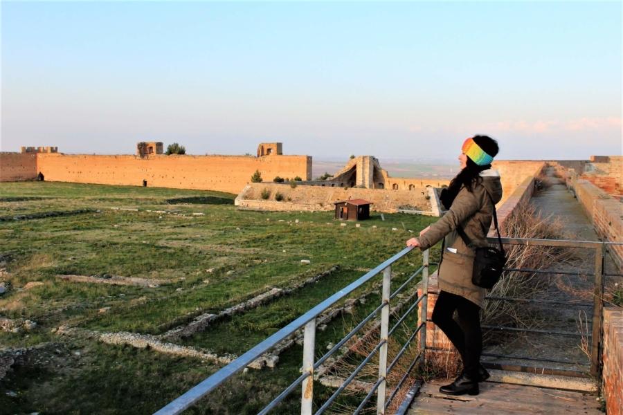 Sulle mura della fortezza svevo angioina di Lucera